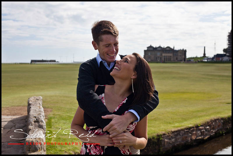 Daryl and Laura- Engagmement shoot, St Andrews, Reids Photography