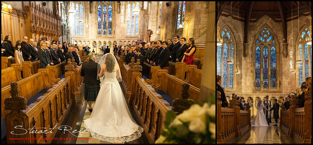 st salvators chapel winter wedding   st andrews