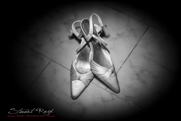 Wedding Shoes - Reids Photography