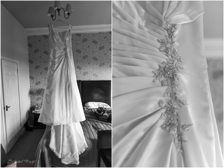 Photographing the details, the wedding dress