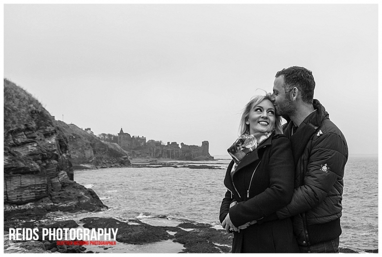 Claire and Paul St Andrews Engagement shoot.
