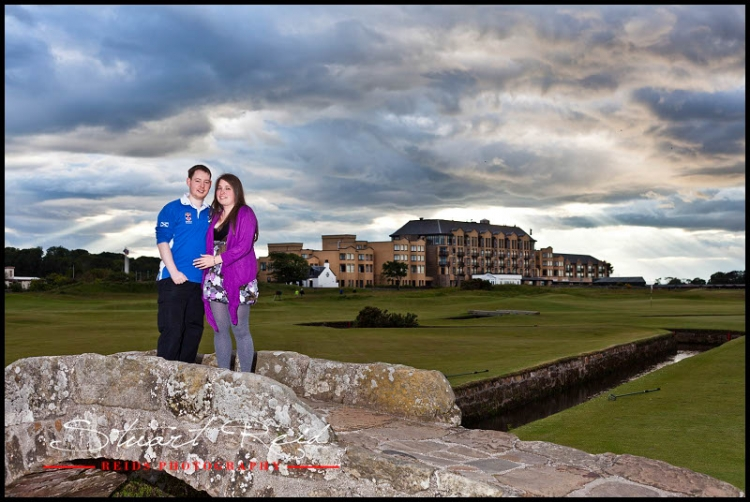 Alasdair and Pamela, Engagement shoot, St Andrews. Reids Photography